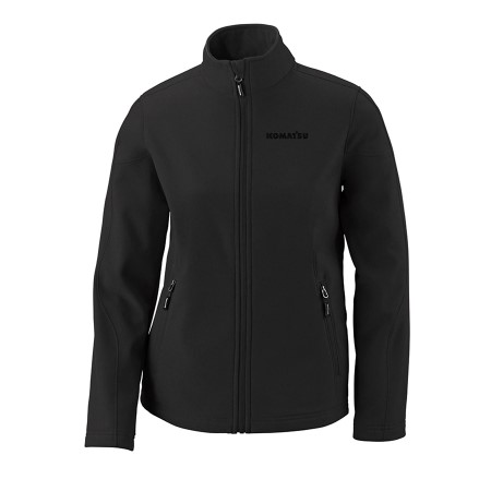 Ladies Two-Layer Fleece Bonded Soft Shell Jacket - Black