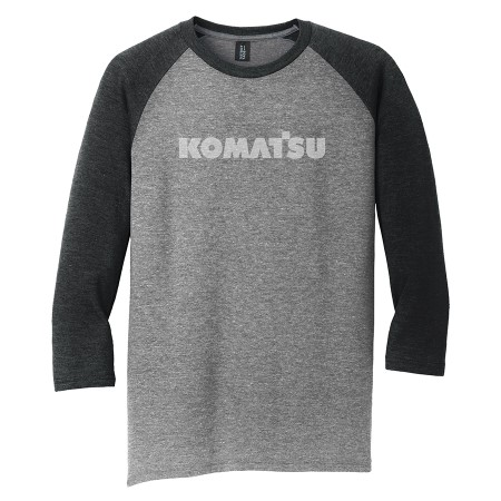 Mens Perfect Tri® 3/4-Sleeve Raglan - Black Frost/Grey Frost