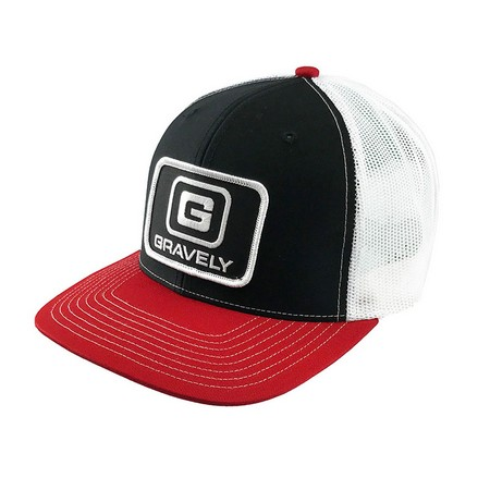 Richardson Classic Trucker Cap with Gravely Patch - Black